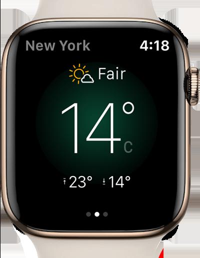 Yahoo Weather app apple watch