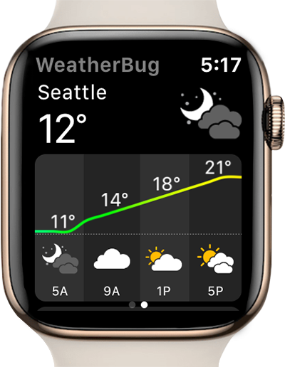weather bug app apple watch