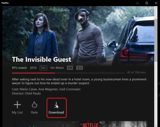 download Netflix on a mac- download button