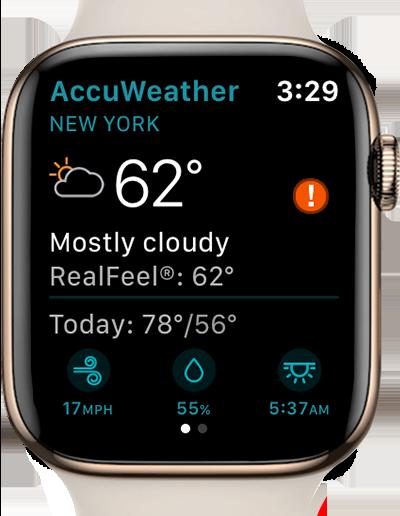 AccuWeather app apple watch
