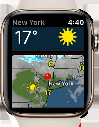 Weather & Radar app apple watch
