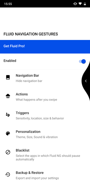 Gesture Navigation Apps for Android- fluid
