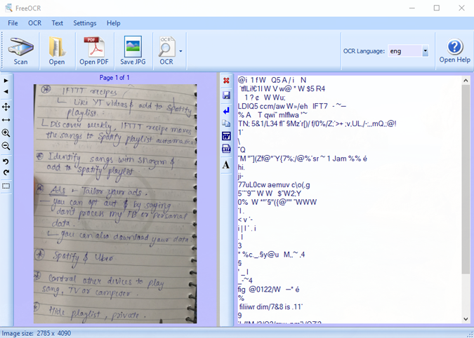 free-ocr-handwritten-text