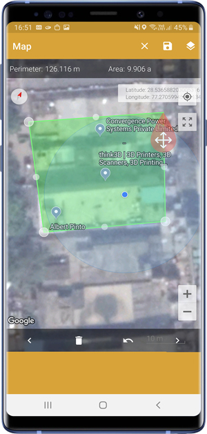 measurement apps- gps area