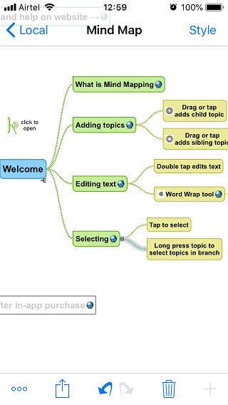 mind mapping iOS apps 2