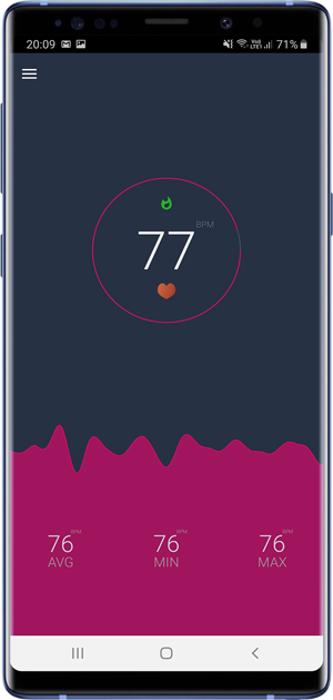 check Heart rate on Android and iPhone- android measuring