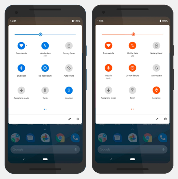 Get Pixel-style layout on your Android with different color accents