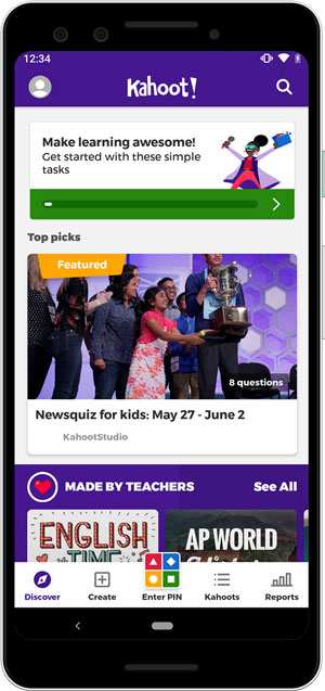 math learning apps- kahoot
