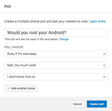 Make a Poll within a video
