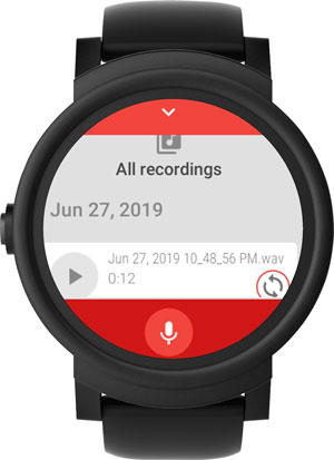 android watch apps- audio recorder