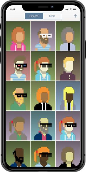 pixel art apps- bitface