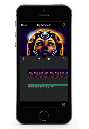 image-over-audio