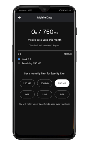 spotify-lite-data-limit