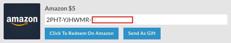 Purchase Amazon gift card