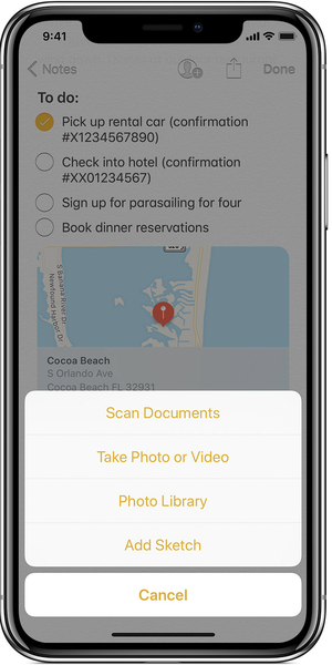 iOS Notes Document Scanner