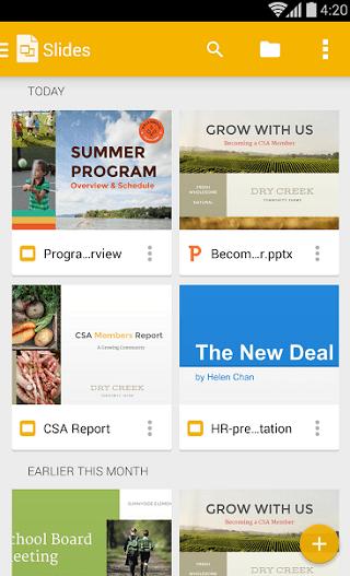 google slides presentation app