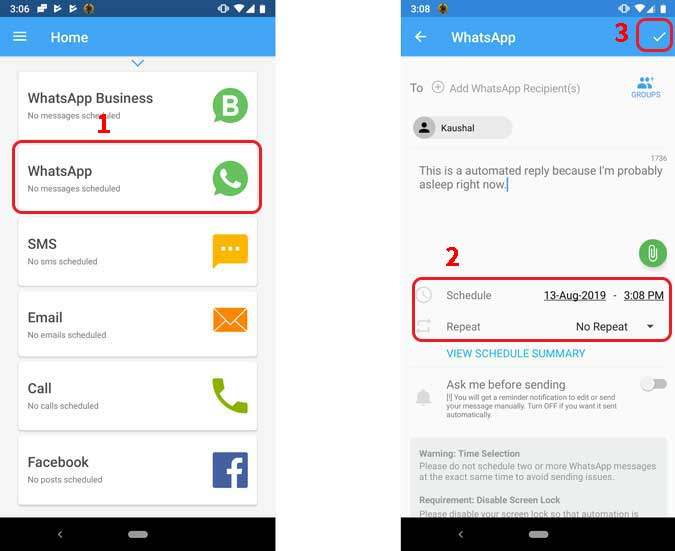 How To Schedule Whatsapp Messages On Android And Ios Techwiser