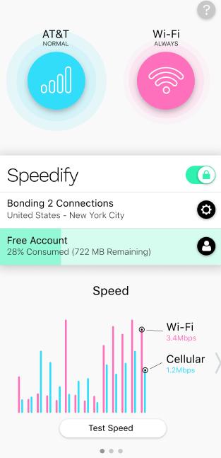 speedify wi-fi hotspot app screenshot