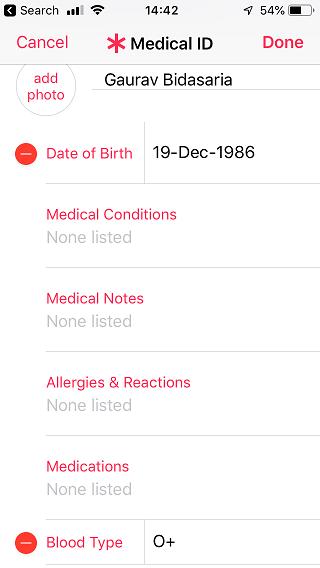 apple health medical id