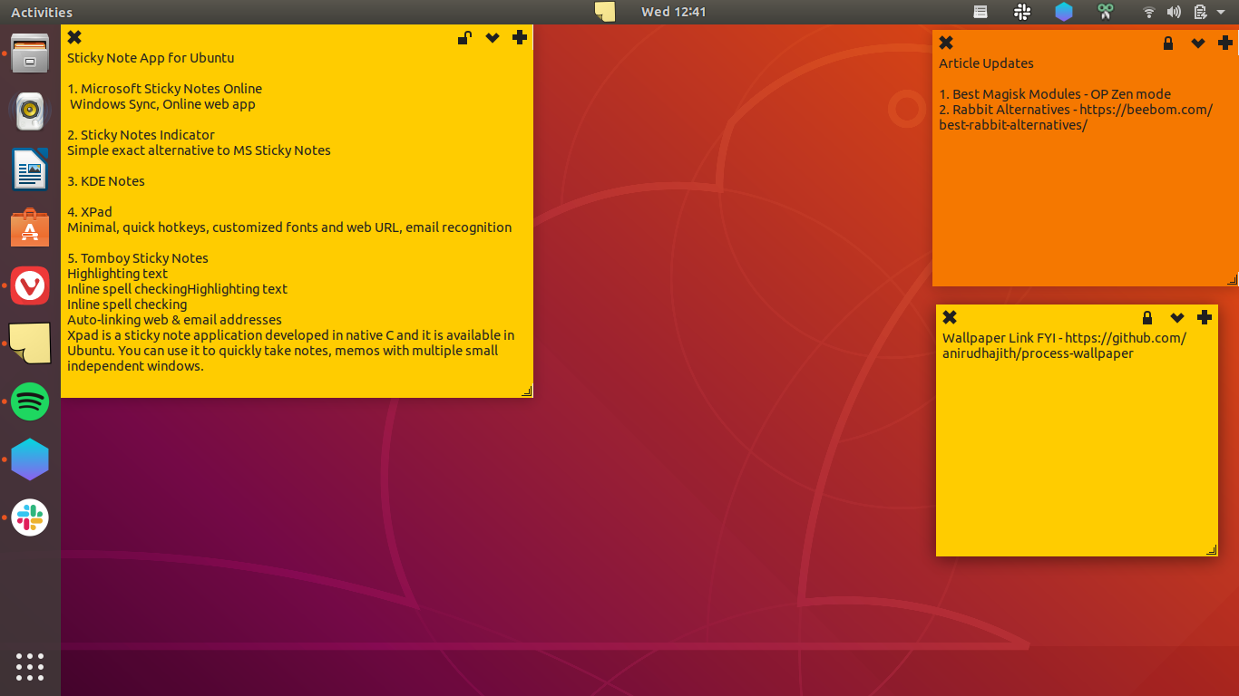 6 Best Sticky Notes For Ubuntu To Take Fast Notes Techwiser