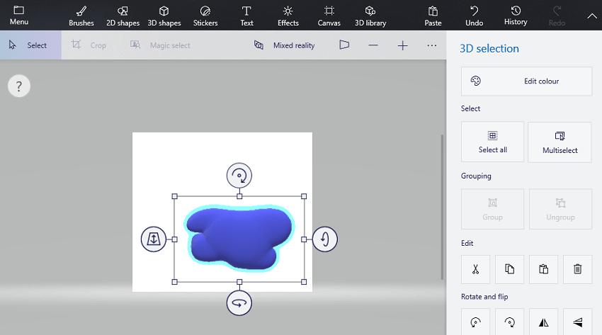 paint 3D drawing app