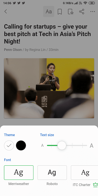feedly reading experience