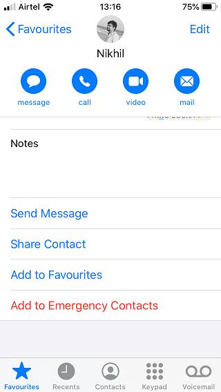 iOS 13 contact encrypted notes