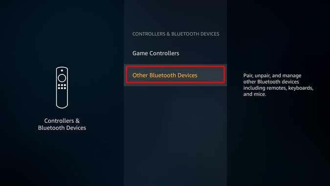 bluetooth settings on firestick