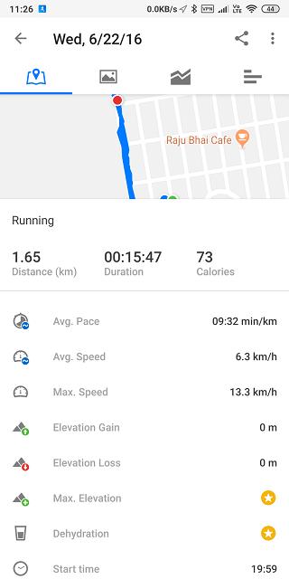 runtastic running log and stats