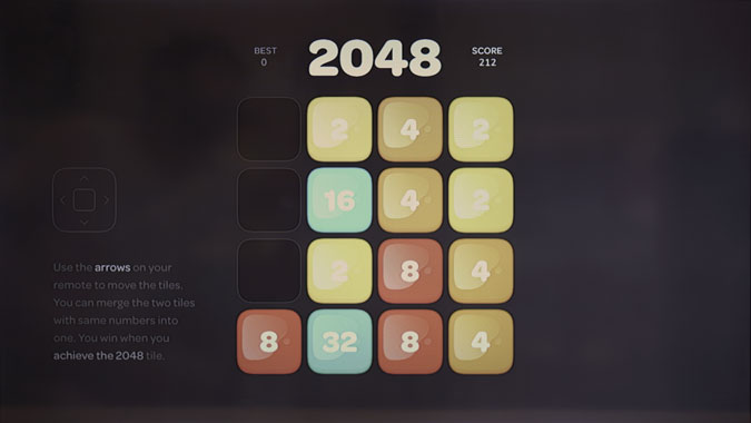 2048 game screenshot