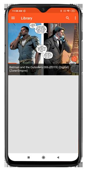 batman series local comics displayed in astonishing comic reader android app