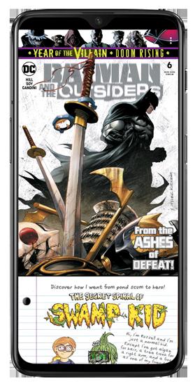 batman series opened in challenger viewer app - comic book reader app