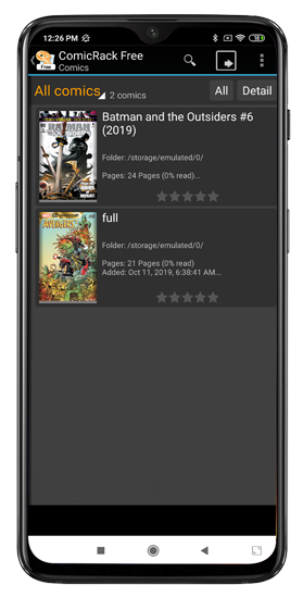 local comic readers in comic rack free android app