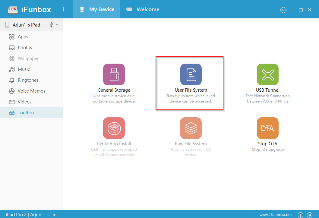 ifunbox user file system
