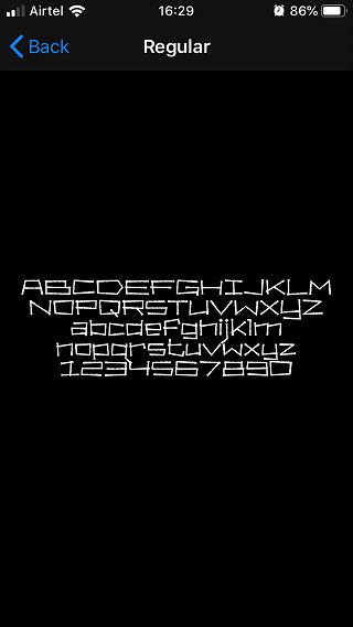 check custom font typography