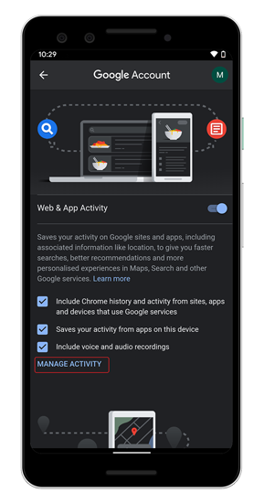 manage-web-app-activity