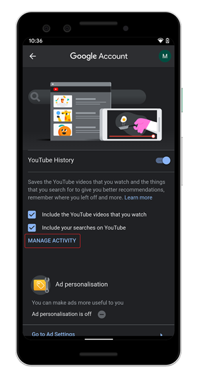 manage-youtube-activity