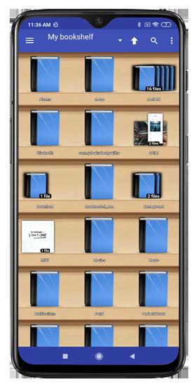 bookshelf displaying comics in perfect viewer app - comic book reader app