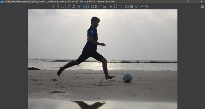 photo preview in image glass