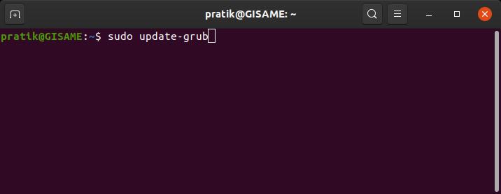command to rebuild grub configuration file