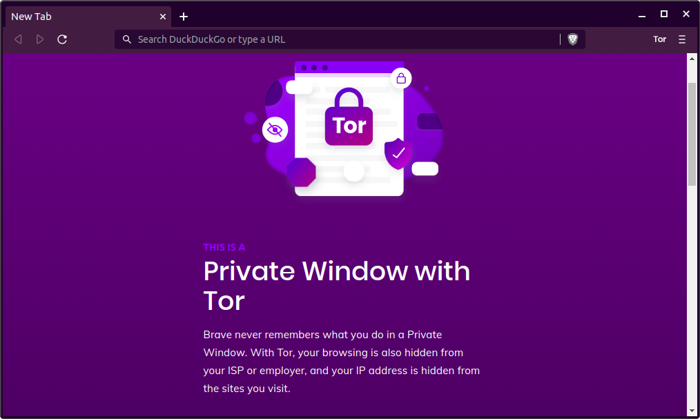 brave browser private mode with Tor