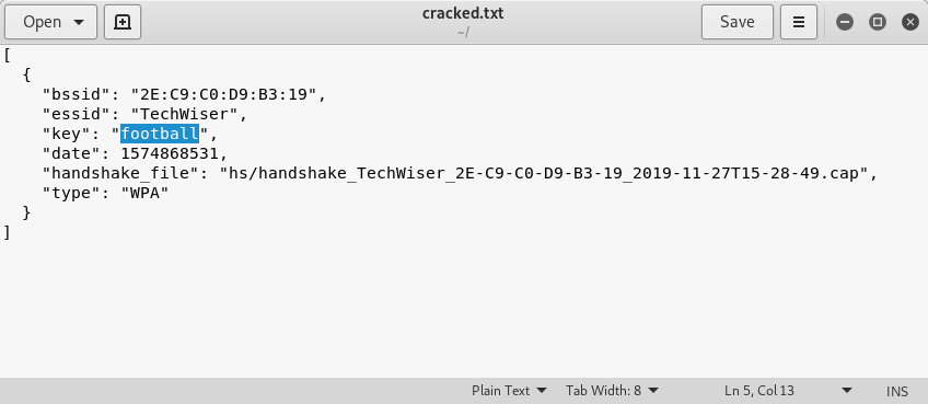 cracked txt file in home directory