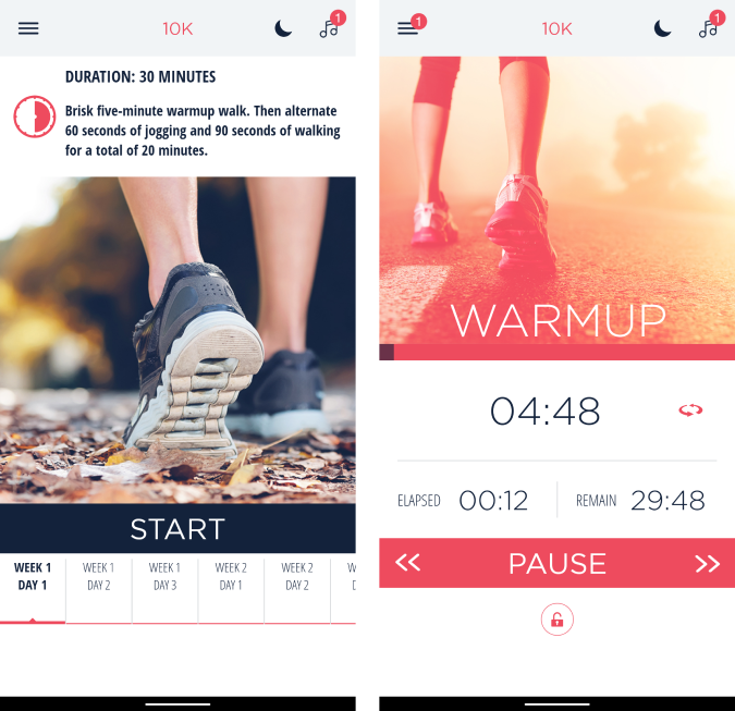 zenlabs couch to 10k app with run tracker and training plan