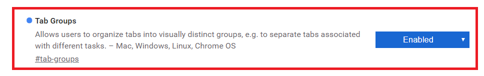 Googleタブグループ