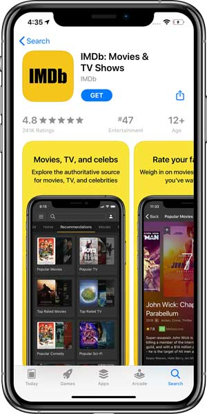 IMDb app on the App Store