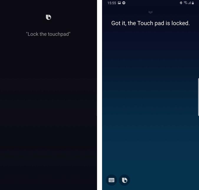 lock the galaxy buds touchpad via bixby