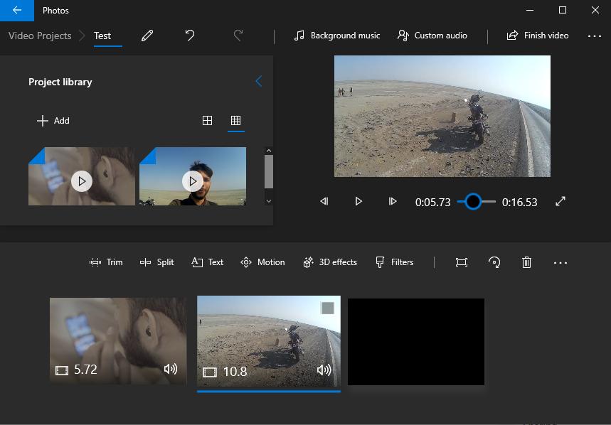 microsoft newbuilt in video editor built