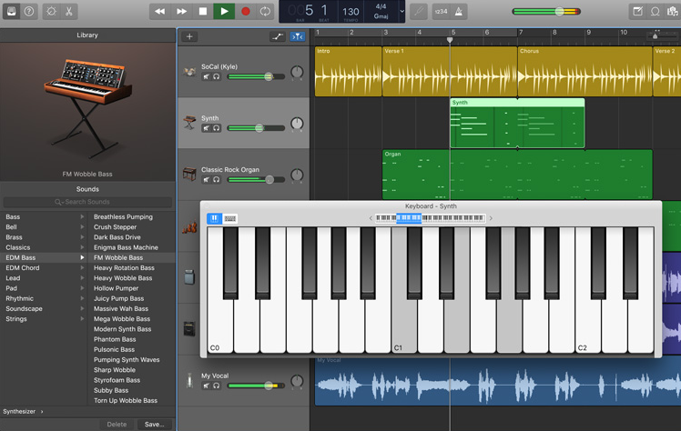 Garage Band DAW Apple
