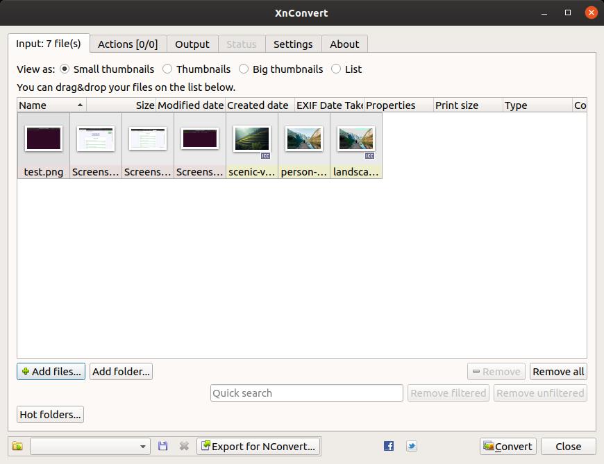xnconvert converting multiple images