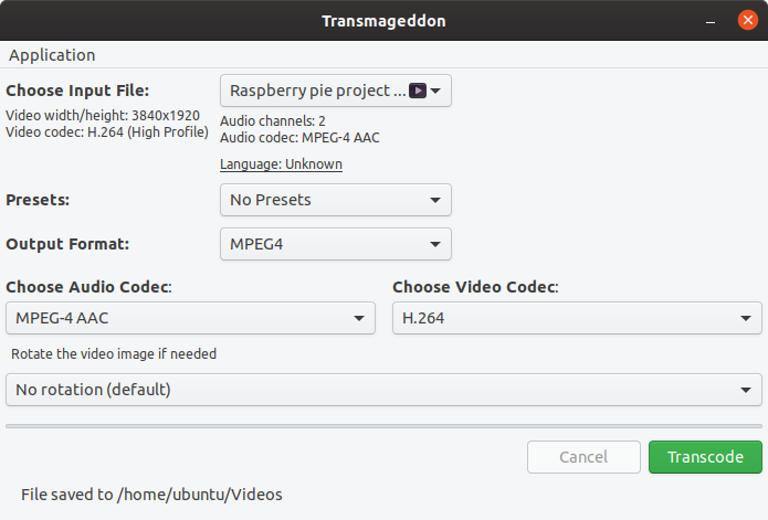 transmageddon video compressor for linux